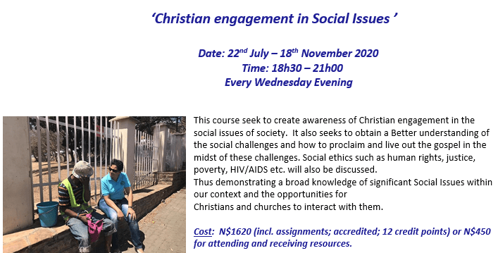 Enroll now for NETS@night:                 'Christian Engagement in Social Issues'